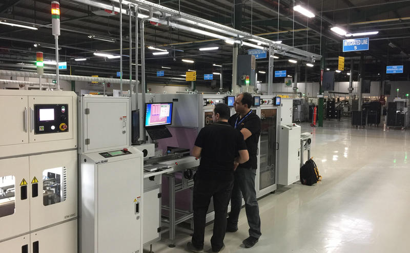 FastATE, In-Line test solution, shown & demonstrated at Productronica 2017